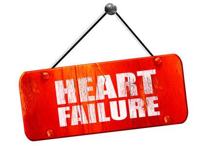 heart failure: heart failure, 3D rendering, red grunge vintage sign