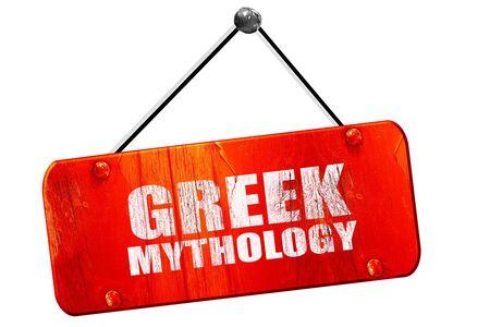 greek mythology: greek mythology, 3D rendering, red grunge vintage sign Stock Photo