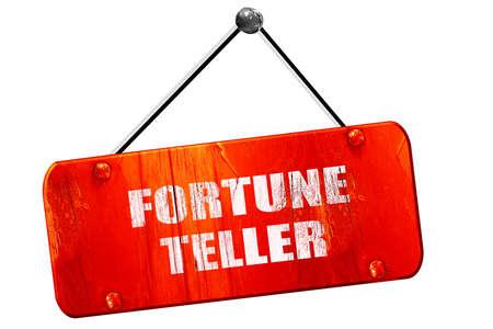 fortuneteller: fortune teller, 3D rendering, red grunge vintage sign
