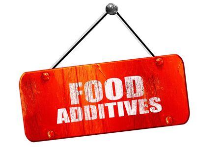 food additives: food additives, 3D rendering, red grunge vintage sign