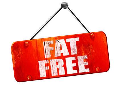no cholesterol: fat free, 3D rendering, red grunge vintage sign