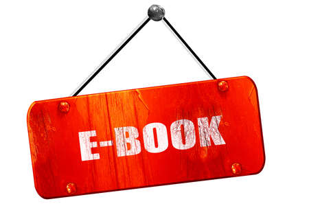 databank: e-book, 3D rendering, red grunge vintage sign