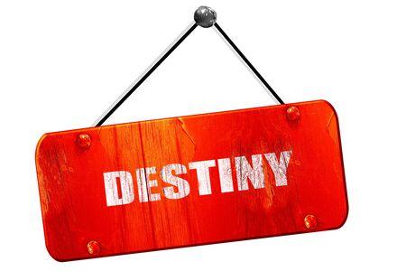 destiny: destiny, 3D rendering, red grunge vintage sign