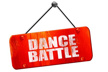 3d dance: dance battle, 3D rendering, red grunge vintage sign