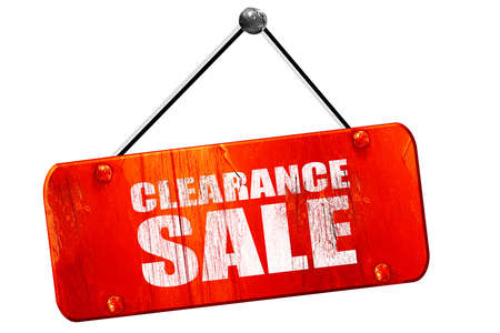 price cutting: clearance sale, 3D rendering, red grunge vintage sign Stock Photo