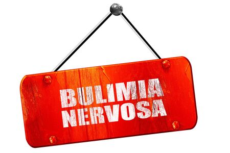 bulimia: bulimia nervosa, 3D rendering, red grunge vintage sign Stock Photo