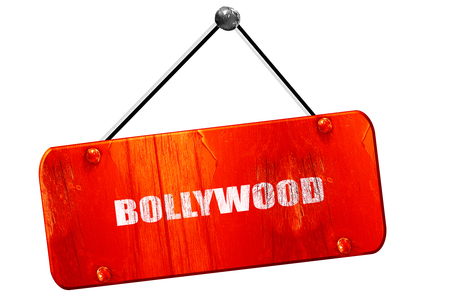 bollywood: bollywood, 3D rendering, red grunge vintage sign