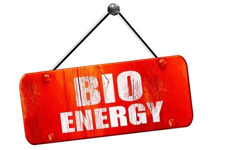 bio energy: bio energy, 3D rendering, red grunge vintage sign