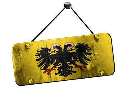 holy roman emperor: Holy roman empire with some soft highlights and folds, 3D rendering, old vintage hanging sign
