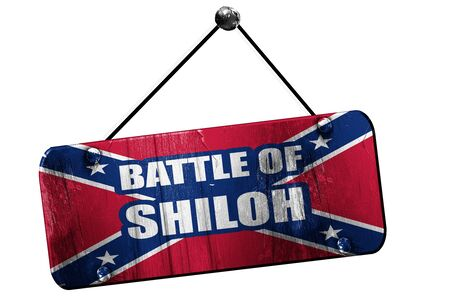 social history: Rebel flag, 3D rendering, old vintage hanging sign