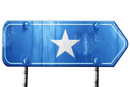 somalian culture: Somalia flag, 3D rendering, vintage road sign isolation