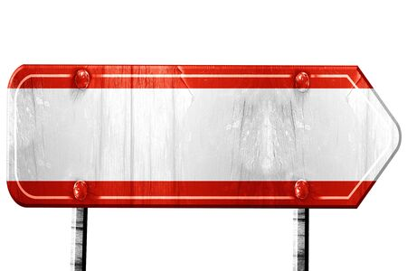 austrian: Austrian flag, 3D rendering, vintage road sign isolation