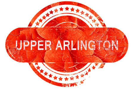 upper: upper arlington, red grunge rubber stamp on white background Stock Photo