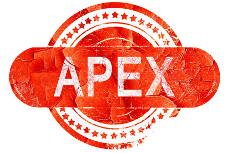 apex: apex, red grunge rubber stamp on white background Stock Photo