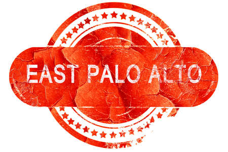 alto: east palo alto, red grunge rubber stamp on white background Stock Photo
