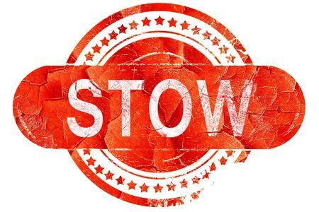 stow: stow, red grunge rubber stamp on white background Stock Photo