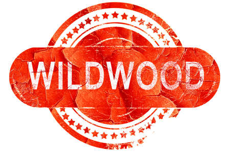 wildwood: wildwood, red grunge rubber stamp on white background Stock Photo