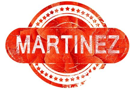 martinez: martinez, red grunge rubber stamp on white background Stock Photo