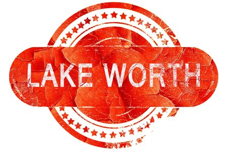 worth: lake worth, red grunge rubber stamp on white background Stock Photo