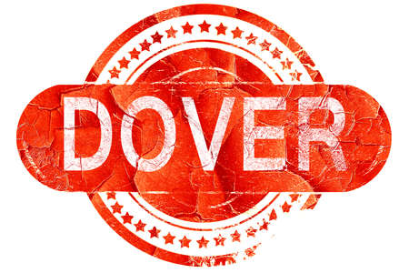 dover: dover, red grunge rubber stamp on white background Stock Photo