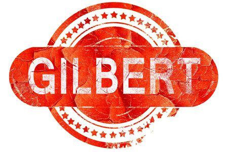 gilbert: gilbert, red grunge rubber stamp on white background Stock Photo