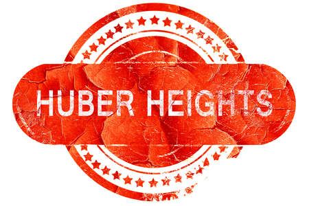 heights: huber heights, red grunge rubber stamp on white background