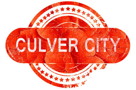 culver city: culver city, red grunge rubber stamp on white background Stock Photo