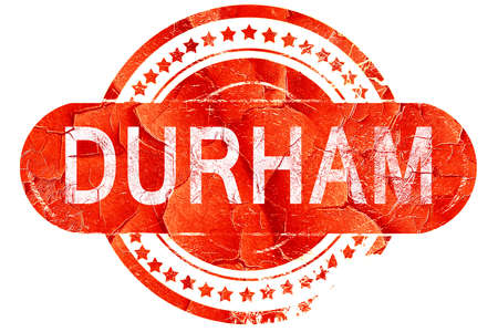 durham: durham, red grunge rubber stamp on white background