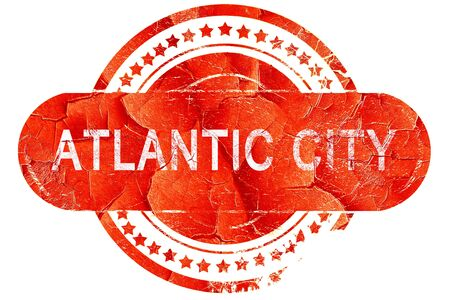 atlantic: atlantic city, red grunge rubber stamp on white background