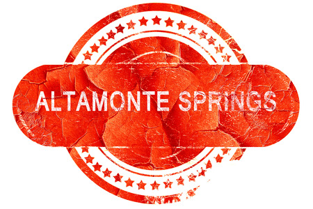springs: altamonte springs, red grunge rubber stamp on white background