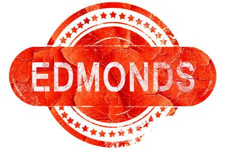 edmonds: edmonds, red grunge rubber stamp on white background