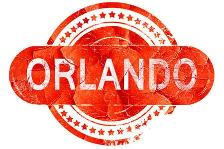 orlando: orlando, red grunge rubber stamp on white background Stock Photo