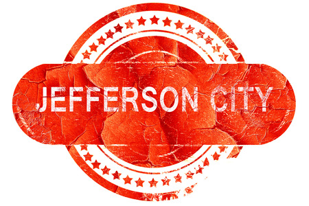 jefferson: jefferson city, red grunge rubber stamp on white background Stock Photo