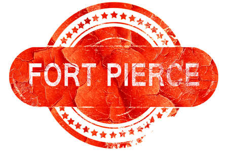 pierce: fort pierce, red grunge rubber stamp on white background