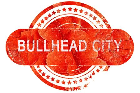 bullhead: bullhead city, red grunge rubber stamp on white background