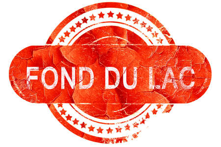lac: fond du lac, red grunge rubber stamp on white background Stock Photo