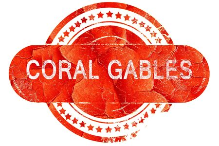gables: coral gables, red grunge rubber stamp on white background Stock Photo