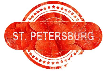 st petersburg: st. petersburg, red grunge rubber stamp on white background