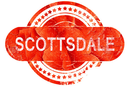 scottsdale, red grunge rubber stamp on white background