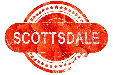 scottsdale: scottsdale, red grunge rubber stamp on white background