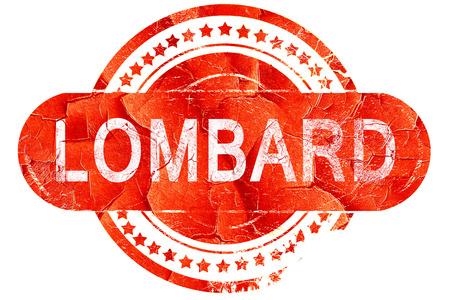 롬바르디아, 흰색 배경에 빨간색 grunge 고무 스탬프