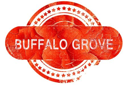 grove: buffalo grove, red grunge rubber stamp on white background