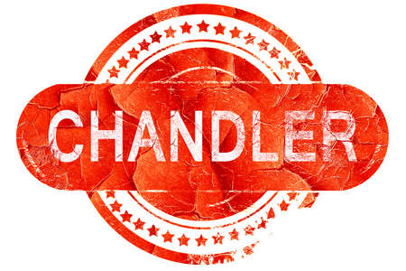 chandler: chandler, red grunge rubber stamp on white background Stock Photo