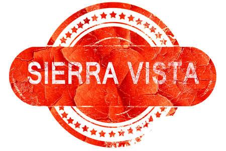 vista: sierra vista, red grunge rubber stamp on white background