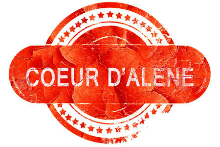 coeur: coeur dalene, red grunge rubber stamp on white background