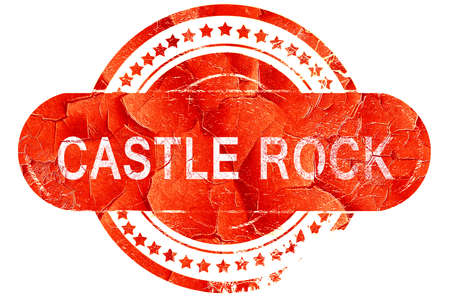 castle rock: castle rock, red grunge rubber stamp on white background