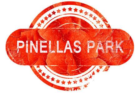 pinellas: pinellas park, red grunge rubber stamp on white background