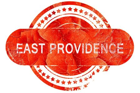 providence: east providence, red grunge rubber stamp on white background