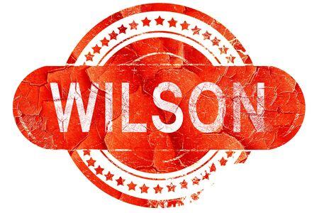 wilson: wilson, red grunge rubber stamp on white background
