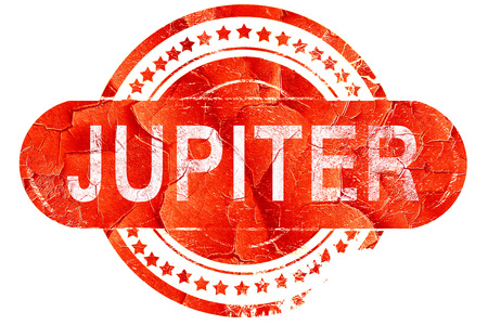 jupiter: jupiter, red grunge rubber stamp on white background Stock Photo